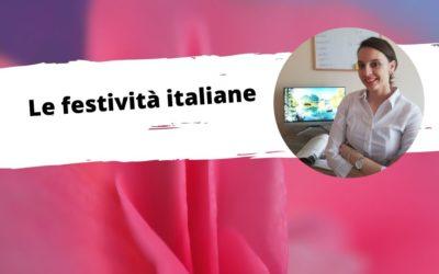 Le festività italiane. Webinar